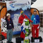 Europameisterschaft Freestyle: 2. Christine Bönniger (GER), 1. Tatyana Sysoeva (RUS), 3. Anne Valvatne (NOR)