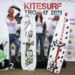 Siegerehrung KST Tourstopp Fehmarn: 2. Platz Heike Wycisk, 1. Platz Christine Bönniger, 3. Platz Anett Bremer