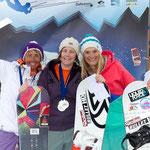 Europameisterschaft Race: 2. Astrid Berz (SUI), 1. Christine Bönniger (GER), 3. Inga Wobker (GER) © Tobias Eble (www.kitepix.net)