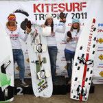 Siegerehrung Deutsche Meisterschaft Course Racing: 2. Platz Heike Wycisk, 1. Platz Christine Bönniger, 3. Platz Anett Bremer