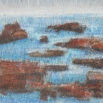 Buntstifte auf Karton - 30 cm x 40 cm
