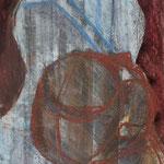 Zwei Köpfe - 20 cm x 30 cm; Mischtechnik auf Papier