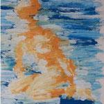 Akt - 20 cm x 26 cm; Acryl auf Papier, Privatsammlung