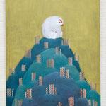 「かんがえること を かんがえる」2017/キャンバス、油絵具/F50