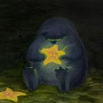 「よすがら めじるし」/キャンバスに油彩/D455×W380mm