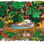 Die Liebe -  Tuschzeichnung coloriert