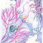 The Tree of Good and Evil - color drawing - 2005 Copyright 2005 Johan Palacio