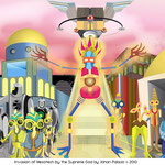 Invasion of Mesotech City by the Supreme Being - Copyright 2009, 2010 (90x38) Vector