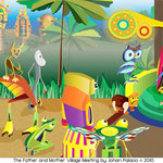 The Father and Mother Village Meeting - Copyright 2009, 2010 (90x38) Vector