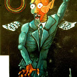 Creature of Paths - June 2000 acrylic