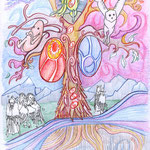 The Tree of Life - color drawing - Copyright 2005 Johan Palacio