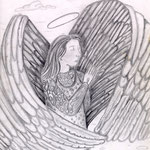 "Visage of An Angel - 1995 pencil (8"" x 10"")"