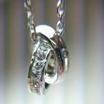 NP-010(Silver) / Dia 0.005ct クリスタルガラス