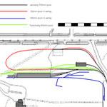 Kaart met spoorwerkzaamheden