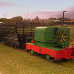 Locparade gastlocomotief Motorrail van het Industrieel Smalspoor Museum