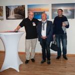 2. Vorsitzender L. Loch und BM Berg und einem Besucher