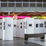 Blick in die Ausstellung auf dem Flughafen