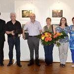 Ehrung durch Ulli Sutter von der Gemeinde und Albin Hanstein als Vertreter des Bürgermeister