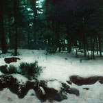 bosque negro 2, 2010. óleo sobre tabla 110x231 cm. black forest 2, 2010 oil on panel 42,9x90 inches