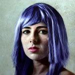 Harriet with purple hair, 2013. oil on canvas. 120x120 cm