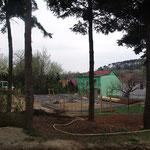 19. April 2015: Das Streifenfundament ist betoniert.