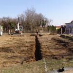 18. März 2015: Das Fundament ist ausgegraben. Man kann sich endlich vorstellen, wo das Gebäude stehen wird.