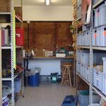 26.10.2015 Die Werkstatt ist eingerichtet.