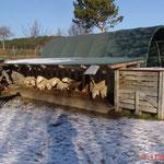 Im Winter an der Futterraufe