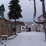 Der Innenhof im Winter