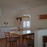offene Küche mit Sitzecke