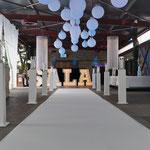 Der Eingangsbereich mit dem Blick auf den SALA Schriftzug