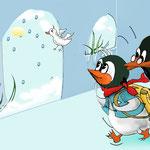 Pinguin Willibald möchte etwas lernen