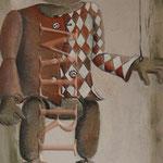 pinocchio mit rot-weisser jacke,holzpuppe, Kinderzimmer, Leinwandbilder, Cartoon, Kindergarten, Kinderarzt,