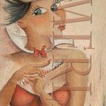 Krankenschwester - Leinwandbild verkauft - Lanwandbild - Cartoon - Menschen auf Leinwand
