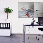 Headhunter im büro - Wohnbilder - Leinwandbilder - Menschen auf Leinwand
