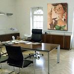 SEKRETÄRIN - Berufsbild auf Leinwand - Leinwandbild - Bürobilder - Cartoon - Menschen auf Leinwand