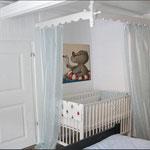 nilpferd im Schwimmring - Bilder im Kinderzimmer - Leinwandbilder - Cartoon - Merli