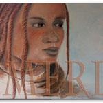 Afrika, schwarze Schönheit mit Rastalocken - Leinwandbilder - Wohnbilder - Menschen auf Leinwand