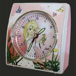 Kinderuhr rosa, Eurotime - Motiv Prinzessin, Kinder lernen die Zeit Uhren
