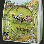 Kinderuhr Eurotime - Motiv Bauernhof, Kinder lernen die Zeit Uhren