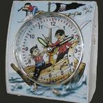 Kinderuhr Eurotime - Motiv Piraten, Kinder lernen die Zeit Uhren
