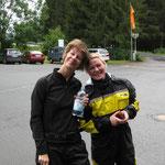 Die beiden Birgits, die die Tour von A-Z mitfuhren, die eine als Fahrerin, die andere als sportive Sozia