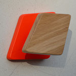 COAT-PEGS ORANGE FLUO AND WHITE PATINA < LISERE COLLECTION