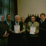Überreichung der Urkunde Ehrenmitgliedschaft K.H.Nolte u., A.Diederich mit Vorstandsmitgliedern