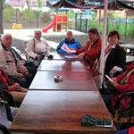 zünftige Kaffeetafel im Rosengarten Langensalza