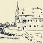 Zeichnung des Comthurhofes von 1842
