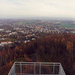 Blick vom Turm über Oelsnitz/Erzgeb. nach Osten