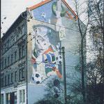 """Doppelgiebelbild """"Wie Hund und Katze"""". Die Katze (1988)"""