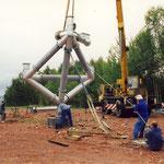 Beginn der Montage im August 2000