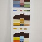 Farbentwurf -Beispiel aus der Ausstellung